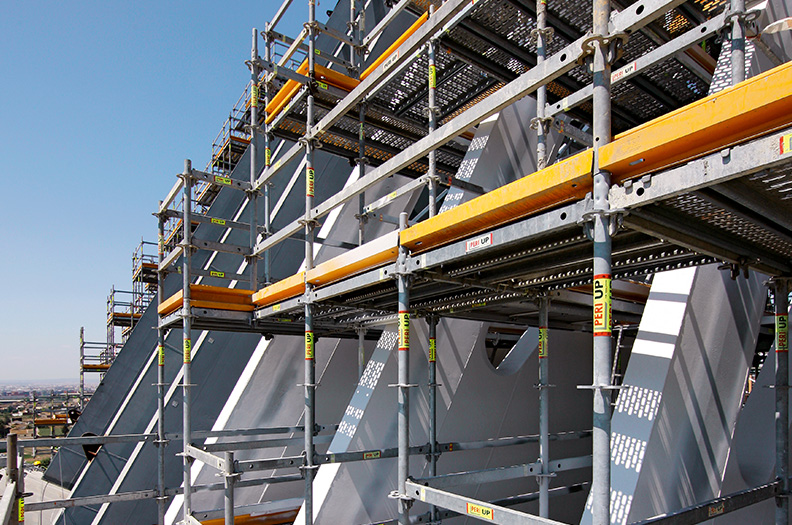 We manufacture supports, scaffold boards/steel walkways, propping and vertical support sections.