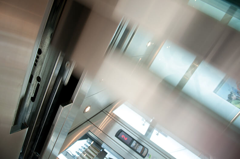 We supply door sill profiles, door panels or transoms for elevators as well as decorative profiles for cab interiors.