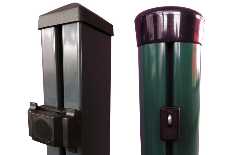 Fence posts made from Welser profiles are stable and weatherproof.