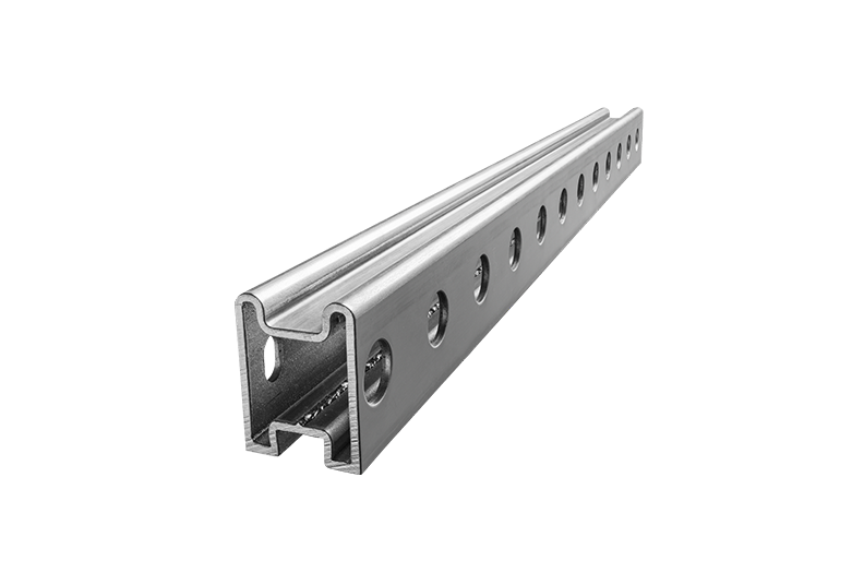 Running rail for elevator doors