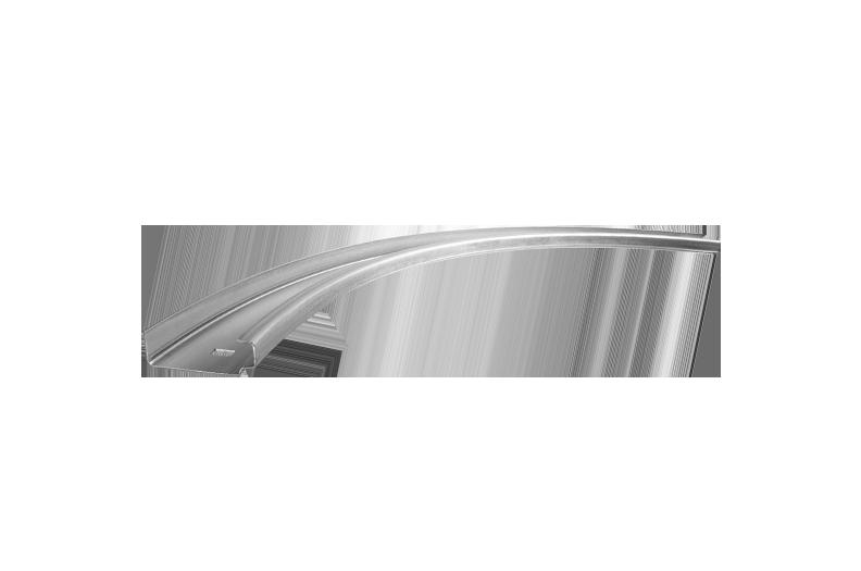 Guide rail for garage doors