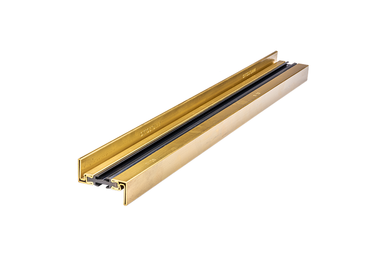 Window frame with thermal separation