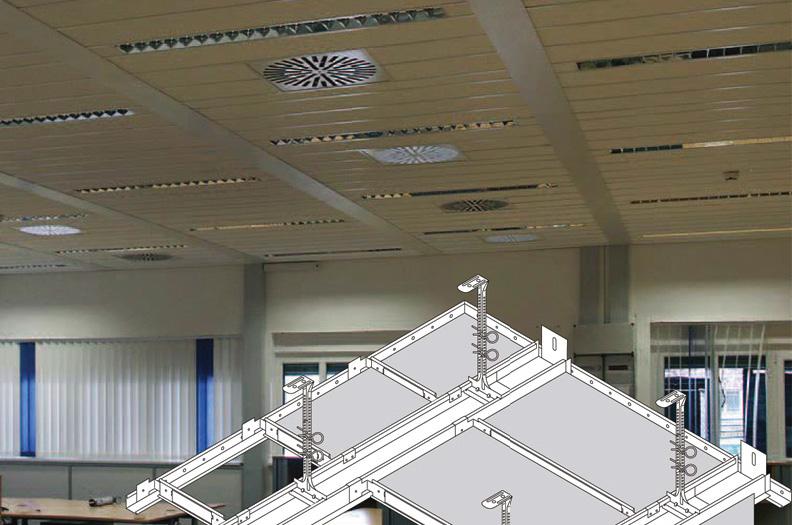 Snäva toleranser är väsentliga för att tvär- och längsgående bärprofiler ska kunna anslutas med takpaneler till undertak.