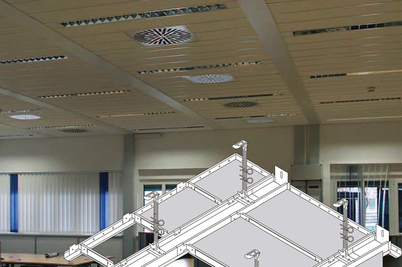 Close tolerances are vital to be able to join our supporting profiles cross- and lengthwise for panels in suspended ceilings.